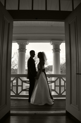 The historic plantation home is a wonderful backdrop for a wedding and